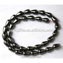 "8x12MM Loose Magnetic Hematite Drop Beads 16"""