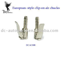 European-style clip-on air chucks;