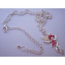 Colgante de collar de hadas de plata (HK-NLF0815)