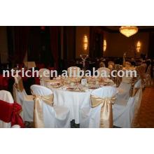 housses de chaise de polyester 100 %, couverture de chaise d'hôtel/Banquet, ceinture de chaise d'Organza