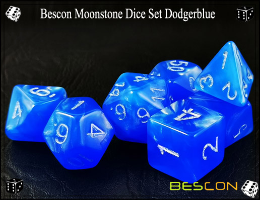 Dodgerblue Dice Set-1