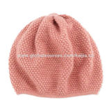 Women's winter knitted beanie hat with lurexNew
