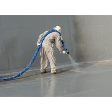 Solvent-free polyurea floor construction process