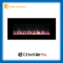 "50"" wall mounted gorgeous fire wood fireplace with remote control"