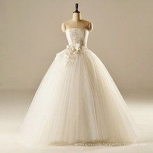 AH1907 real ivory color ball gown sheer lace wedding dress tom flowers wedding gowns