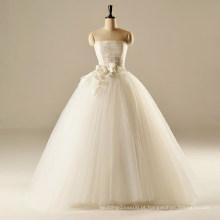 AH1907 vestido de noiva de cor de marfim real vestido de noiva vestido de noiva tom flores vestidos de casamento