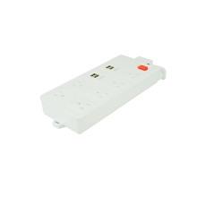 USA 6-fach Steckdosenleiste mit 4 USB-Ports