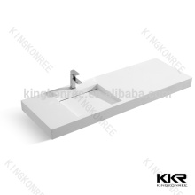 éviers sanitaires de salle de bains, bassin rectangulaire en pierre artificielle