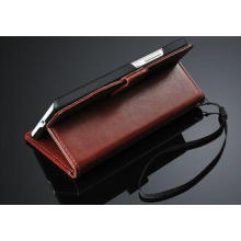 Ultra Slim Brown Wallet Huawei Mobile Phone Cases with Two