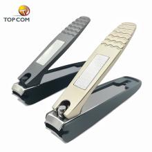 Grande logotipo personalizado preto metal unhas clippers presente