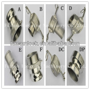 stainless steel 316 camlock coupling hose fitting