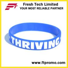 Pulseira promocional ecológica Pulseira de silicone personalizado