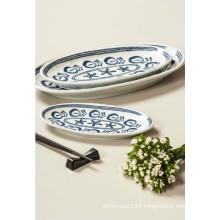 Melamine Oval Plate/Modern Blue Plate/Dinnerware (DCY3508)