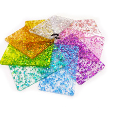 Shiny holographic marble purple green gold 3mm sand glitter acrylic sheet for decoration