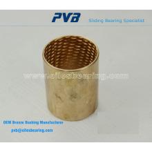 Roulements en bronze emballés, offerts avec des poches de lubrification, roulement GGT090
