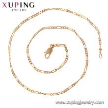 44316 xuping bijuterias de níquel livre mais popular 18 k banhado a ouro colar de corrente para as mulheres de jóias de importação da china