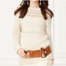 15PKCAS55 fashion beaded cashmere sweater pullover