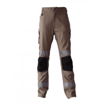 Utility pockets work pants cotton canvas trousers