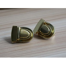 Cerraduras metálicas brillantes del metal del logotipo del oro para la cartera