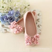 2015 deslizamento popular em crianças PVC Beading sapatos de fábricas de fábricas chinesas que fabricam meninas sapatos bonitos