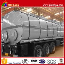 Réservoir de chauffage d'asphalte de remorque de bateau-citerne de bitume avec le volume facultatif