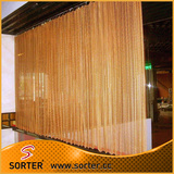Chain link mesh curtain/metal hanging drapery/decorative woven mesh