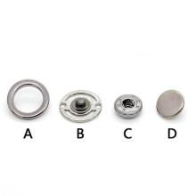 Botón a presión de doble cara de metal hueco circular al por mayor