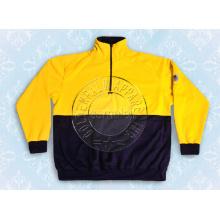 Männer Nylon Gelb Sweat Shirt Halber Reißverschluss Sicherheitsbekleidung