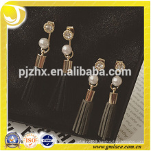 2016 Alibaba China Supplier Wedding Bridal Sexy Leather Mini Earrings