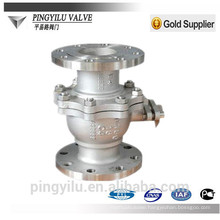 C4 flange ball valve in oil industry dn40