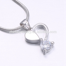 heart shape white cubic zirconia more color available in nice polishing pendant jewelry
