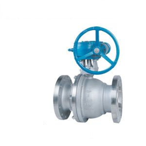 API Worm Gear Floating Ball Valve