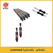 Single acting dump truck hydraulic cylinder