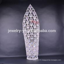 2015 nouveau design de grandes tiaras de couronnes pour femmes