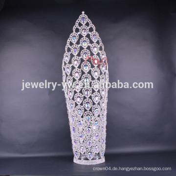 2015 neue Design große hohe Festzug Krone Tiaras für Frauen