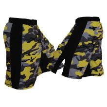 Los pantalones cortos en blanco de MMA venden al por mayor, impresión de los cortocircuitos de MMA