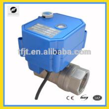 Válvula elétrica de 2 vias AC24V com indicador de posição para reutilização da água da chuva e reutilização do sistema de água cinza