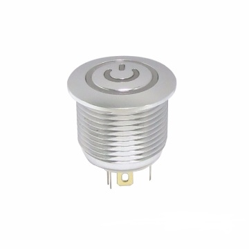16 MM LED metalen drukknopschakelaar