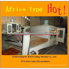 Máquina de telhas metálicas revestidas de pedra de alta qualidade