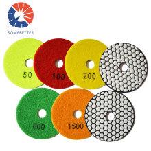 "5""125mm dry pad engineered stone polishing pad japan polishing pad"