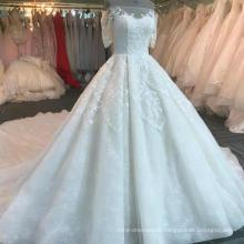 Чжуншань тяжелая бисера роскошные свадебные платья 2017 DY041 для новобрачных