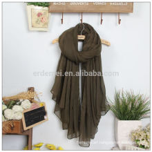 Lady polyester voile wide turkey shawl