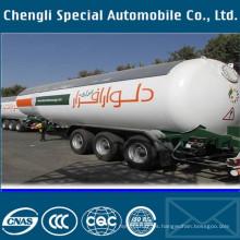 3 ejes camión 36-58cbm Liquidfied Gas LPG tanque Semi remolque