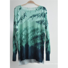 Ladies Printed Side Split Knitwear