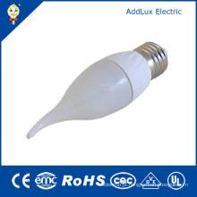 Luz da vela do diodo emissor de luz do branco puro / luz do dia de Dimmable 3W B22