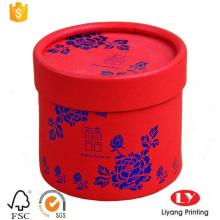 Caja de embalaje de regalo de boda de papel redondo de lujo