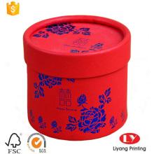 Caja de empaquetado del regalo de boda de papel redondo de lujo