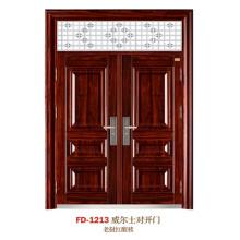 China Steel Door Supplier Entrance Door Metal Door Iron Door (FD-1213)