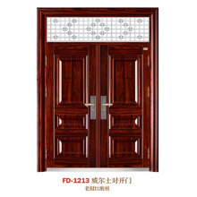 China porta de aço porta de entrada do fornecedor porta de ferro porta de metal (fd-1213)