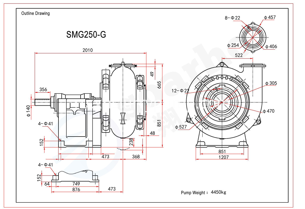 SMG250-G outline drawing